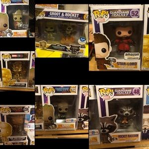 Marvel Guardians of the galaxy funko lot rare